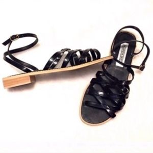 🆕 Amanda Smith strappy black sandals size …